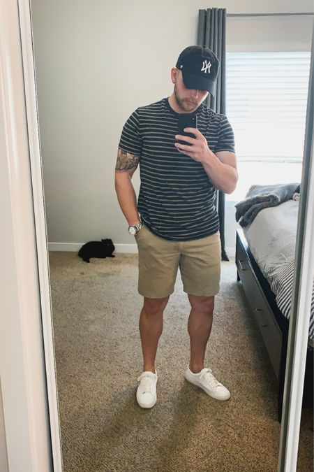 Great casual summer look got this $10 tee at target. I'm wearing size M. These short are super versatile and can be worn with so many things. http://liketk.it/2PKfC #liketkit #LTKunder50 #LTKmens #LTKspring @liketoknow.it