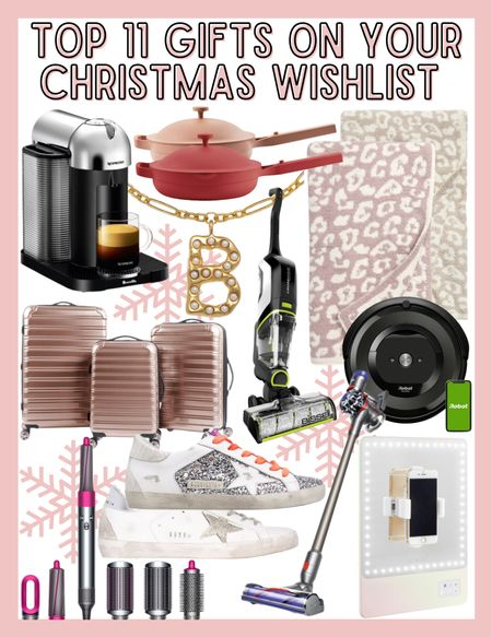 Top 11 Gifts on YOUR Christmas Wishlist! Gift guide, Gift guide for Her! Nespresso, Always Pan, Initial Necklace (20% off with KELSIE20), Bissell Crosswave, Dyson Airwrap, iFLY luggage set, Roomba, Golden Goose Sneakers, Riki Mirror, Dyson Cordless Vacuum   #LTKSeasonal #LTKHoliday #LTKGiftGuide