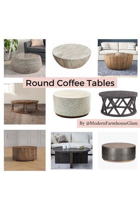 Round coffee table ideas from ModernFarmhouseGlam. Gameroom Furniture. Livingroom Furniture.  #LTKCyberweek #LTKsalealert #LTKhome