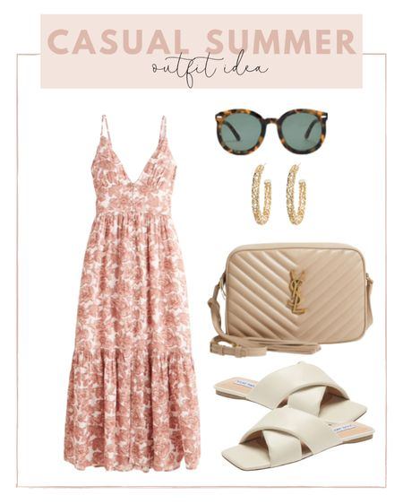 Casual summer outfit idea ☀️pair a sun dress with neutral flats and my favorite YSL bag that is back in stock!   #LTKunder100