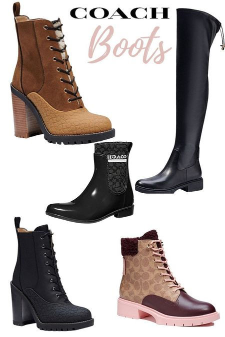 Fall outfits need these gorgeous Coach Boots.  Several styles and those over the knee boots are best sellers.    #coach #designer #boots #overthekneeboots #kneeboots #booties #designerboots #fallfashion #falloutfits