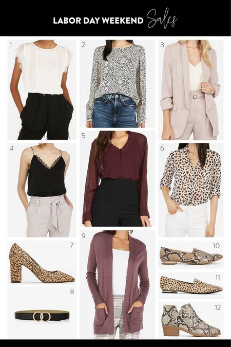 Labor Day Weekend Sales // Back To School // College Wear // Express Fashion // Leopard Tank, Leopard Flats, Leopard Heels, Snake Print Heels    http://liketk.it/2EDKA #liketkit @liketoknow.it