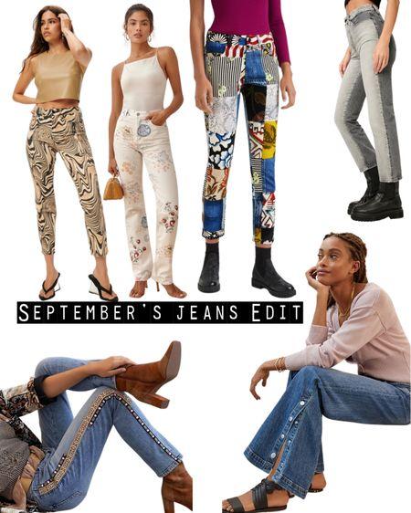 September's On Trend Jeans Edit has arrived. Check it out on www.ilovejeans.com.  #patchworkjeans #printedjeans #twotonedenimjeans #flaredjeans #embelishedjeans #newseasonjeans  #LTKjeans  #LTKcurves #LTKstyletip #LTKeurope
