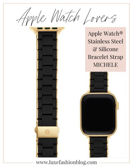 Turn your Apple Watch into a sporty-luxe piece of jewelry with this bracelet made from polished stainless steel wrapped in soft silicone. MICHELE watches brand is available at NORDSTROM.  Apple Watch®️ Stainless Steel & Silicone Bracelet Strap.  ......  Follow me on the LIKEtoKNOW.it shopping app to get the product details for this product and others. http://liketk.it/3a0rc   @liketoknow.it.europe   @liketoknow.it  .....  #liketkit #LTKfit #LTKstyletip #LTKworkwear