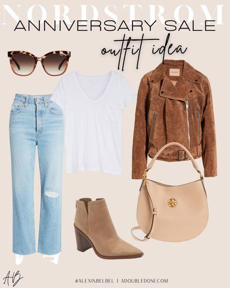 NSALE outfit idea size 24 jeans size Xs jacket size 7 booties   #LTKunder100 #LTKunder50 #LTKsalealert