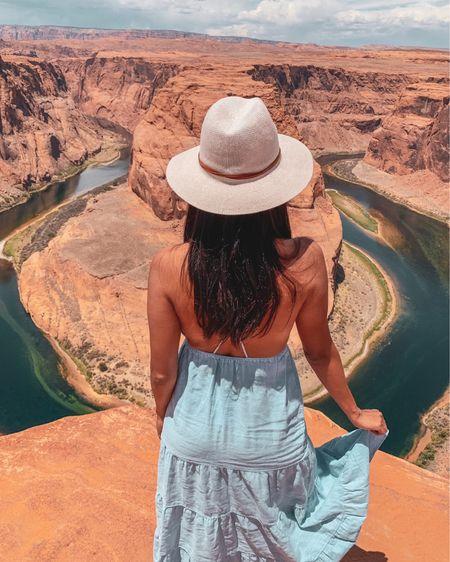 Soaking in the beauty of Horseshoe Bend in my favorite summer hat 💕 . .  @liketoknow.it http://liketk.it/3gMpL #liketkit #LTKtravel #LTKstyletip #LTKunder50