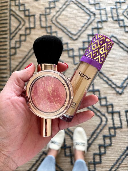 This deal is a steal! Retails for $109, on sale for $39! And this is for the super sized Tarte concealer. Also, this blush is so pretty and looks good on any skin tone. #ad @qvc   #LTKbeauty #LTKGiftGuide #LTKsalealert