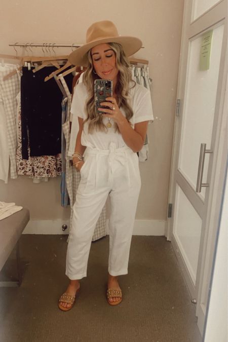 Forever living in an all white look for summer! Love mixing in browns and neutral accessories!   http://liketk.it/3hD4j @liketoknow.it #liketkit #LTKstyletip #LTKshoecrush