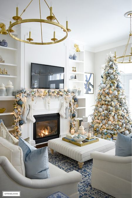 Get your home ready for the holidays with a flocked Christmas tree and flocked garland!  #LTKHoliday #LTKhome #LTKstyletip