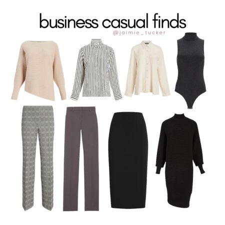 Business Casual finds for the season! | #businesscasual #workoutfit #teacheroutfit #businessinspo #bestsellers #fallouterwear #dresspants #midiskirt #JaimieTucker   #LTKSeasonal #LTKstyletip #LTKworkwear