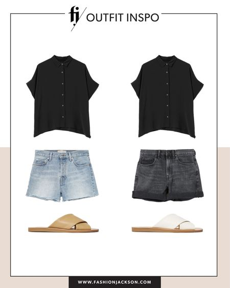 This Everlane black button down shirt is so versatile and I've had it for 4 years now. Always a favorite and I love the oversized fit. Pair with jeans shorts, black denim shorts and sandals for causal weekend style http://liketk.it/3h7d7 #liketkit @liketoknow.it #LTKwedding #LTKunder100 #LTKunder50