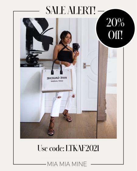 LTK Day Sale picks Abercombie sale - take 20% off with code LTKAF2021  Abercrombie black bodysuit wearing an XS  Abercombie white denim wearing a 24   #LTKsalealert #LTKDay #LTKunder100