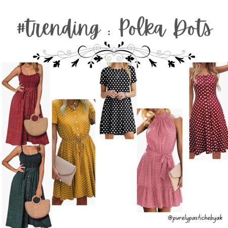 The weekly Trenddown: Polka Dots. Don't miss out on this adorable trend!   #LTKfit #LTKunder50 #LTKstyletip