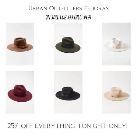 Lack of Color dupe fedoras are on sale right now for only $33 (reg. $44) along with 25% off everything for a few more hours tonight. Free shipping over $50! @liketoknow.it #liketkit #LTKunder50 #LTKsalealert #LTKstyletip #dupe #lackofcolor #womenshats #urbanoutfitters #fedora #fallstyle #blackfriday #sales http://liketk.it/32ul6