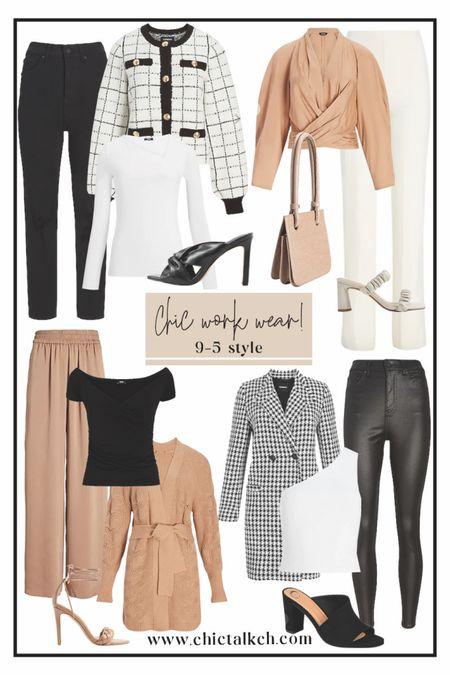 Chic fall looks for fall! Enjoy 25% off right now! 🍂✨🍂 fall fashion, fall style, fall looks, faux leather pants, faux blazers, jackets, plaid jacket  #LTKworkwear #LTKSale #LTKsalealert