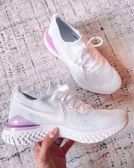 Nike running workout shoes - 6 (I always go up 1/2 size for running shoes) Sock like sneakers   http://liketk.it/3jpsI @liketoknow.it #liketkit #LTKshoecrush #LTKsalealert #LTKunder100
