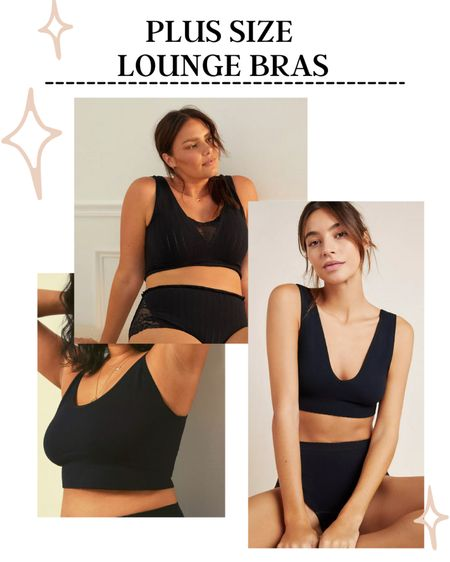 Plus Size Lounge Bras | I love these plus size lounge bras. They are really great for women that need a larger band size but not a very large cup size. http://liketk.it/3iibJ #liketkit @liketoknow.it #LTKcurves #LTKunder100 #LTKunder50