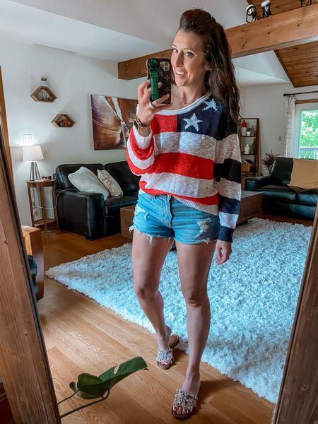American Flag @amazon sweater! Off the shoulder     #LTKstyletip #LTKcurves #LTKsalealert