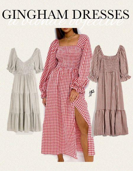 #gingham #dress #dupe #pricepoints   #LTKstyletip #LTKunder100 #LTKunder50