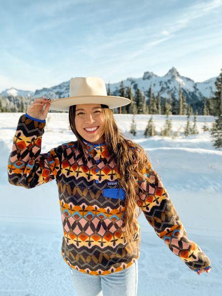 Patagonia pullover - fleece synchilla style. Wearing size small!   @liketoknow.it #liketkit http://liketk.it/3gZUq #LTKfit #LTKtravel