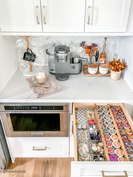 KITCHEN   fall coffee bar set up! Gonna need this today 😴 happy Saturday friends! • Shop this look by clicking the link in my bio or by following me @homebykmb in the @shop.ltk app! • • • • #coffeebar #coffeebardecor #coffeebarstyling #kitchencoffeebar #kitchencoffeebar #halloweendecor #falldecor #falldecorations #homedecorinspo #homedecorideas #homedecorblog #coastalfarmhouse #targetstyle #falldecoration #fall2021 #fallvibes #falldecoratingideas #falldecorideas #halloween2021 #halloweenspirit #spookyseason #halloweenvibes #halloweendecoration #kitchendecor #kitchenstyling #kitchendesign  #LTKhome #LTKSeasonal