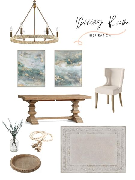 Dining room decor inspiration! It's mood board Sunday & I'm here for it! Loving the neutral colors with the pop of color. Shop this dining room: http://liketk.it/39WCf @liketoknow.it #liketkit @liketoknow.it.home #StayHomeWithLTK #LTKstyletip #LTKhome