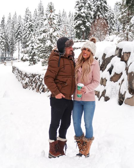 Winter his & hers outfit   Men's puffer jacket Men's fur beanie hat Men's Sorel snow boots  Pink jacket Sorel winter snow fur boots   #liketkit @liketoknow.it #LTKunder100 #LTKwedding #LTKshoecrush #LTKunder50 #LTKstyletip #LTKmens #LTKsalealert #LTKholidaywishlist #LTKholidayathome #LTKholidaystyle #LTKbeauty #LTKholidaygiftguide http://liketk.it/2yFEX