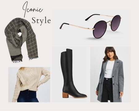 Iconic style, coat, block heel long boot, wool blend scarf, knit jumper, sunglasses, pull on pants    http://liketk.it/3hNHO #liketkit @liketoknow.it #LTKshoecrush #LTKstyletip #LTKworkwear @liketoknow.it.europe Follow me on the LIKEtoKNOW.it shopping app to get the product details for this look and others http://liketk.it/3hNIL