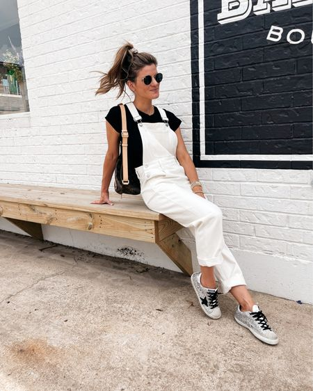 Wearing size XS in overalls and tee   http://liketk.it/3hrNc #liketkit @liketoknow.it