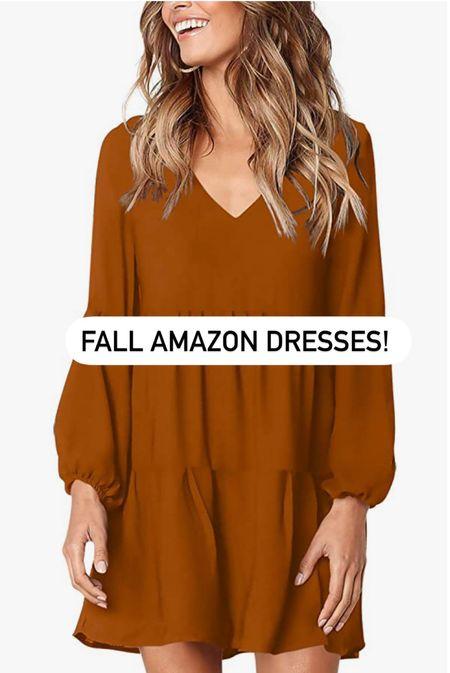Amazon Fall Dresses!   #LTKstyletip #LTKunder50 #LTKSeasonal