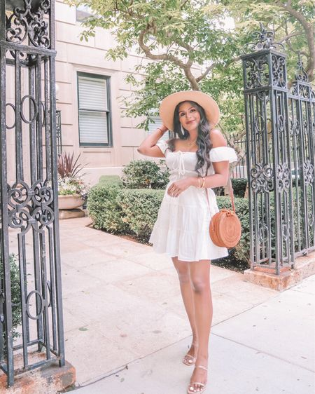 White mini dresses are my staple outfit for summer! 🤍🤎 Found this cutest white dress for summer @amazonfashion  #LWD  . . Shop the look 1️⃣ http://liketk.it/3hDLt  2️⃣ link in bio  #liketkit #LTKunder50 #LTKstyletip #LTKsalealert @liketoknow.it Shop my daily looks by following me on the LIKEtoKNOW.it shopping app