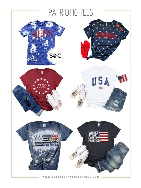 Patriotic and Fourth of July tees. #patriot  #LTKfit #LTKSeasonal