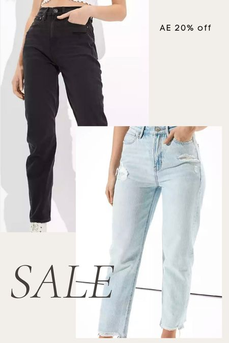 American Eagle jeans 20% off - mom jeans, high waisted jeans, black jeans, boyfriend jeans, mom jeans, fall denim   #LTKsalealert #LTKunder50 #LTKunder100