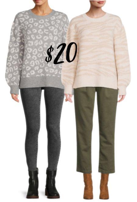 Leopard and zebra print sweaters  #LTKunder50 #LTKSeasonal #LTKworkwear
