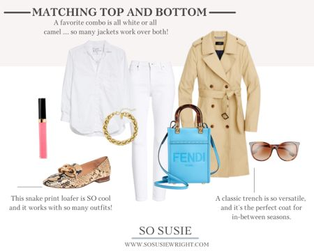 Matching top and bottom outfit inspo!  Fall fashion,  fall outfit inspo, trench coat   #LTKworkwear #LTKSeasonal #LTKstyletip