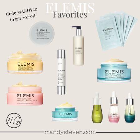 Elemis on sale! Use code MANDY20 to get 20% off! Skincare beauty products facial oil cleansing balm eye mask resurfacing peel face moisturizer anti-aging clean beauty   #LTKunder50 #LTKbeauty #LTKsalealert