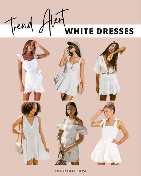 White dresses are a perfect choice this summer season! And by the end of the day, after you're done soaking under the sun ☀️ , a white summer dress can leave you looking like a bronzed goddess. ✨    #LTKstyletip #LTKunder100 http://liketk.it/3jmJ0 @liketoknow.it #liketkit