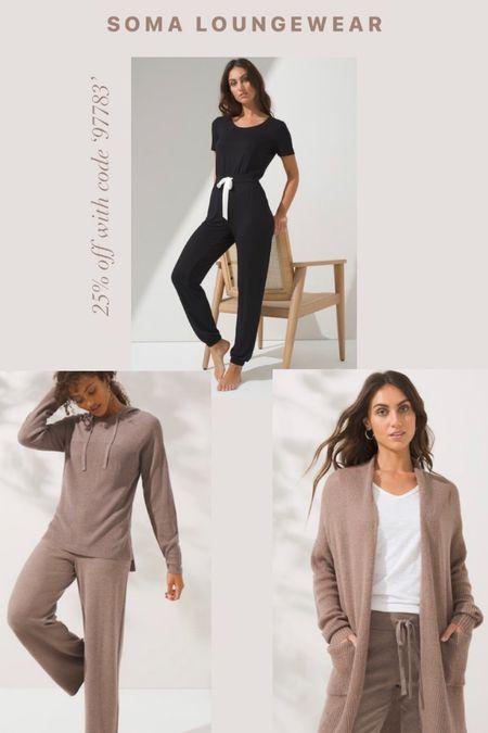Soma 25% off sale! Women's loungewear. Women's fall fashion. Jumpsuits. Sweats. Cardigans. Sweaters.  #LTKunder100 #LTKSale #LTKsalealert