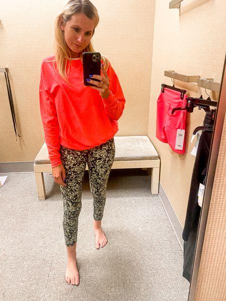 Sweaty Beaty leggings Alo yoga sweatshirt NSale  Nordstrom  Fall Fitness  Workout clothes    #LTKSeasonal #LTKfit #LTKunder100