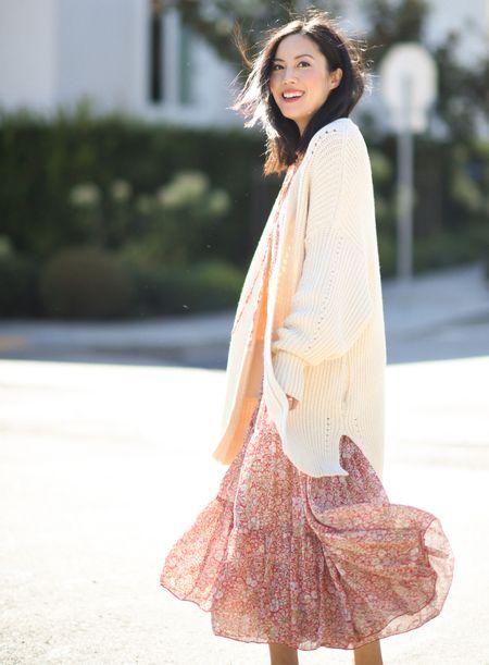 Such a fun dress! Dress and cardigan run large, size down.   #LTKSeasonal #LTKstyletip