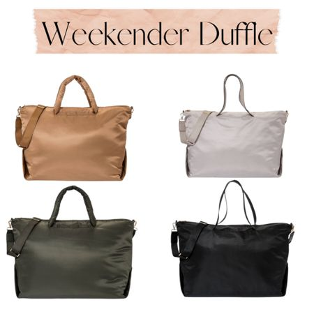 The softest weekender duffle. Comes in 4 colors.   Luggage | travel | duffle bag | carry on luggage    Shop your screenshot of this pic with the LIKEtoKNOW.it shopping app #liketkit http://liketk.it/3iZNz @liketoknow.it #LTKunder50 #LTKtravel #LTKitbag