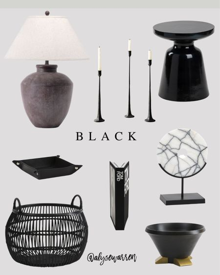 Affordable home decor with mostly finds from TJ Maxx online!  Table lamp, nightstand, bedroom inspiration, iron taper candleholders, mantle decor, console table, side table, catchall tray, large basket, toy storage, playroom, nursery, Tom Ford coffee table book, marbl object, brass decor, bowl, kitchen decor  #LTKhome #LTKHoliday