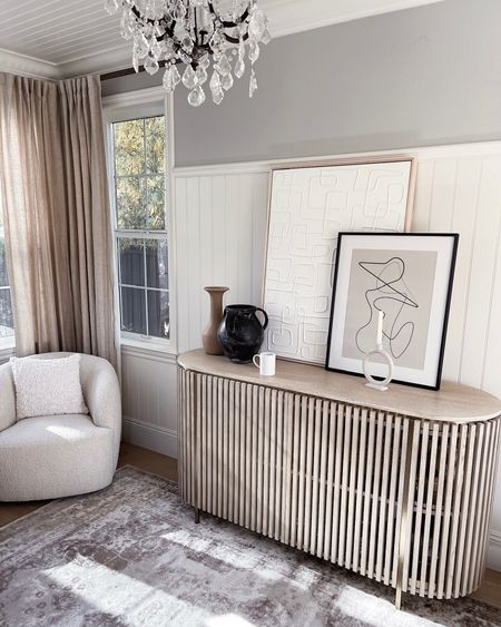 Entry way style, console table styling, vases, neutral home decor, simple decor, art, StylinAylinHome   #LTKunder100 #LTKhome #LTKstyletip