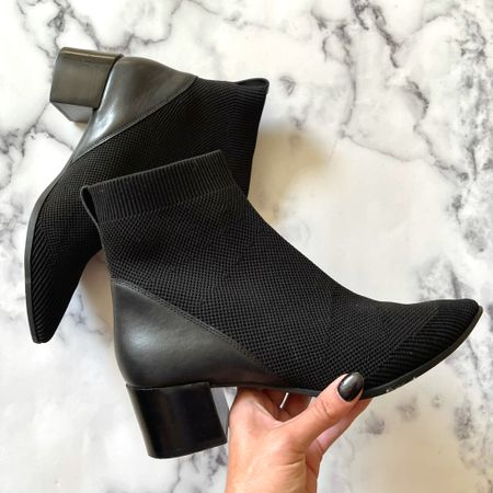 These slip on mesh black boots come in a  camel color boot, and are like wearing a sneaker - so comfy! #boots #fallboots #blackboots #tanboots #falloutfits  #LTKSeasonal #LTKHoliday #LTKshoecrush