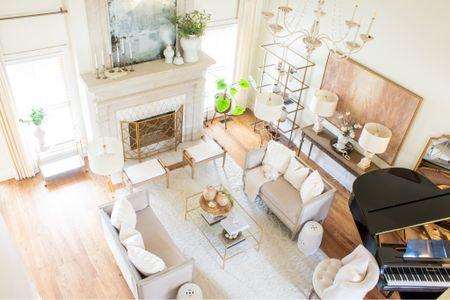 Living room furniture, living room decor, living room design, neutral decor. Coffee table, wooden bench, wooden stool. #liketkit @liketoknow.it http://liketk.it/3atEw #LTKstyletip #LTKhome