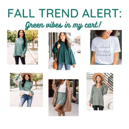 TREND ALERT: look at all this sage and emerald green that has made its way into my cart this fall. So fab!! Some of tis 25% off with code LTK25 too!   #LTKstyletip #LTKSale #LTKSeasonal