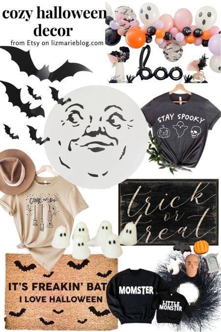Cozy Halloween decor found on Etsy! Find more on lizmarieblog.com today! 👻  #LTKSeasonal #LTKunder100 #LTKHoliday