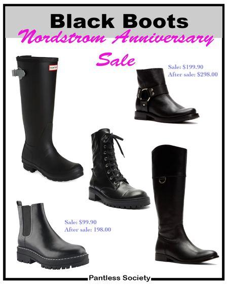Black boots. Rain boots. Nordstrom Anniversary Sale. NSale. #NSale NSale 2021. Fall fashion. Fall outfit. Wear now. Sale alert. Must-have sale picks.   #LTKsalealert #LTKshoecrush #LTKstyletip