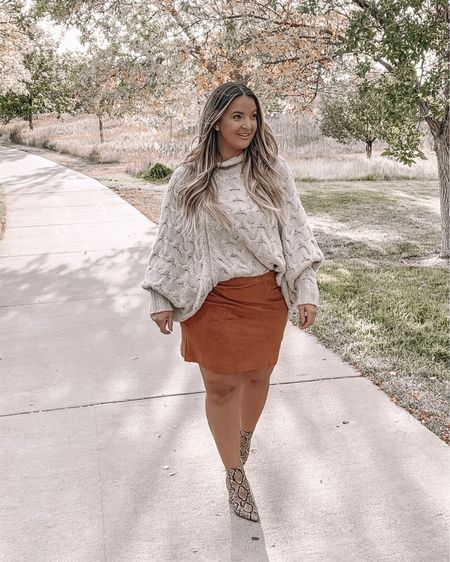 Walking into the weekend with a full agenda and feeling very overwhelmed on how I am going to get all the things done.  No better way then to walk into the work week with these @justfabonline booties and this amazing suede skirt. #justfababassador #justfab #sponsored 🍁 Tonight might be a long night getting a few things done before the work week.  Does anyone else have a busy week ahead?  🍁 Collaborating with Just Fab has been manly for their booties, and it wasn't till this month i decided to try their clothing and feel in love with them. My booties I got to pick out, but I wanted to pay extra to purchase a few things outside of my sponsorship. Let me tell you, being curvy I have my favorite online stores and brands I am loyal to, and Just Fab is very size inclusive for the curvaceous babes out there!  I purchased 2 skirts and a jacket and I am about to purchase another 2 skirts from them. They are TTS, and great quality.   🍁 Outfit deets:  Top @vicicollection very old - linked a few similar  Skirt @justfabonline size large Booties @justfabonline 7.5 these are super tight so size up 1-2 sizes. I might reorder these in the correct size since I wear them and they are too small 😳   1️⃣ Download the @liketoknow.it app and follow me @ delaynadenaye 2️⃣ Screenshot my photos and open up the app — all product details will automatically pull up. http://liketk.it/2G2ip X #liketkit #LTKcurves #LTKsalealert #LTKunder50 #LTKunder100