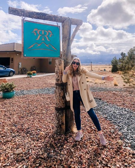 Home on the range! Wore this outfit my last day in Utah flying back home. I love this trench coat and although it's a splurge it's an investment piece! My sweater is ON SALE and I'm wearing a size small. #liketkit @liketoknow.it http://liketk.it/3b9ZU #LTKtravel #LTKsalealert #LTKstyletip